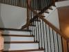 Oak and wrought iron railing