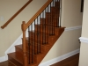 Oak and wrought iron railing