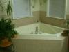 Corner tile tub