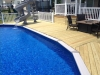 Treated pool deck